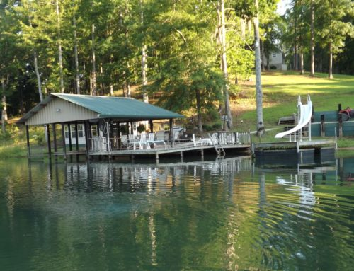 Boat house at Hawkins Ridge Lodge