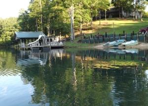 boat house at Hawkins Ridge Lodge